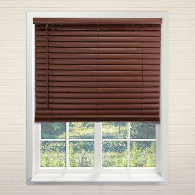 "Cordless Room Darkening 2 in. Vinyl Mini Blind, Perfect for Kitchen/Bedroom/Office & More- English Chestnut-48""W X 64""L"