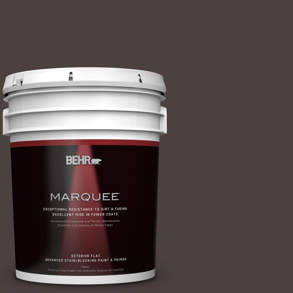 BEHR MARQUEE 5-gal. #PPU5-20 Sweet Molasses Flat Exterior Paint