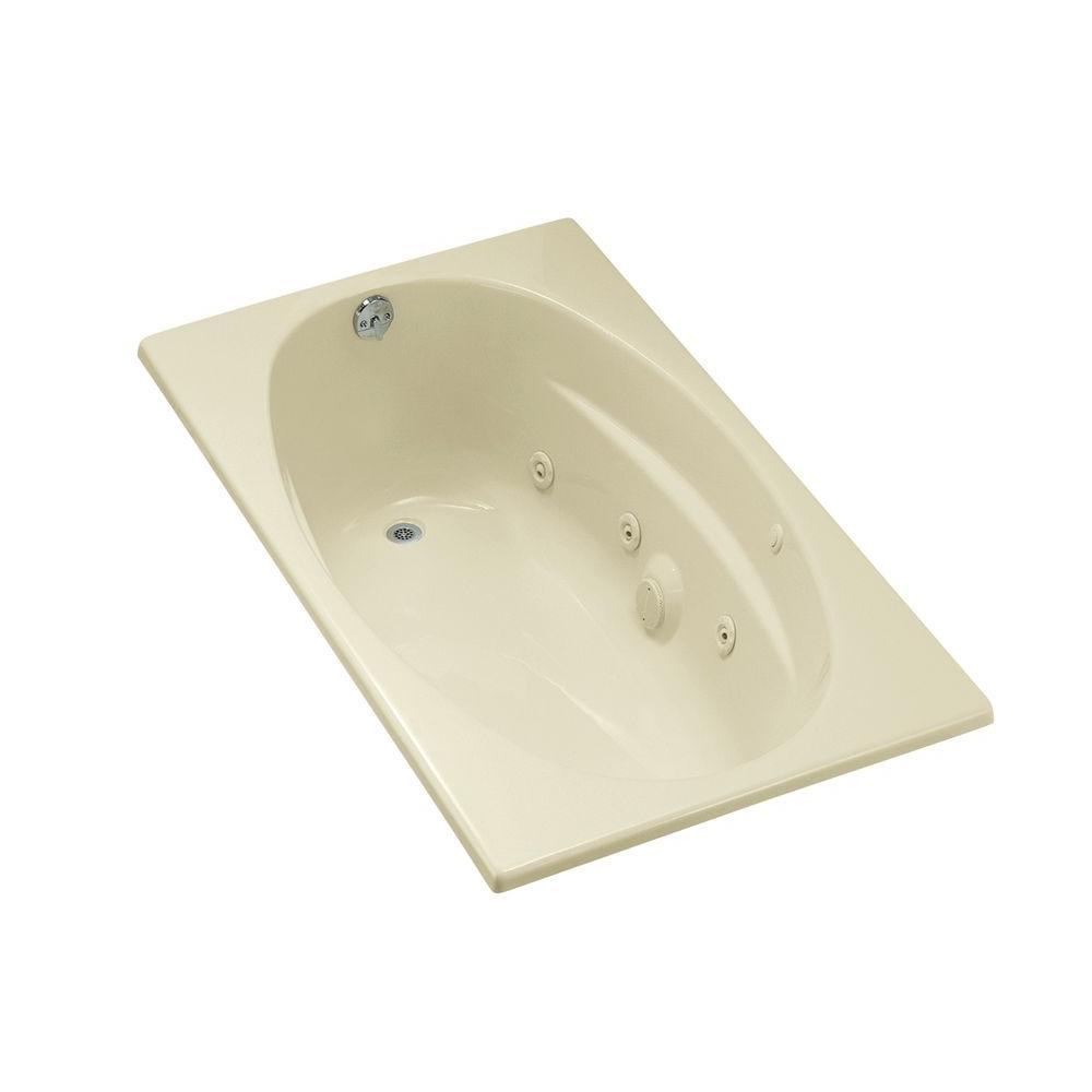 KOHLER 5 Ft. Acrylic Oval Drop-in Whirlpool Bathtub In