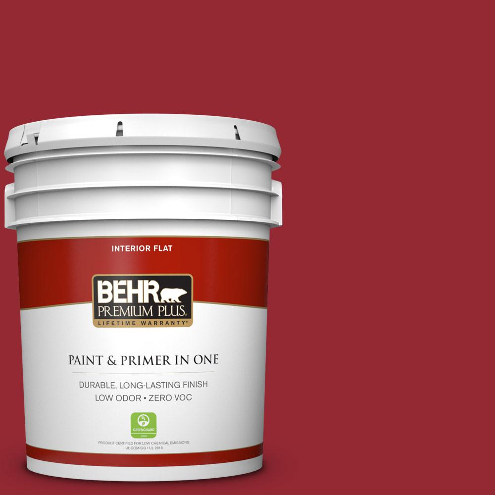 5 gal. #ECC-32-3 Cherry Tree Zero VOC Flat Interior Paint
