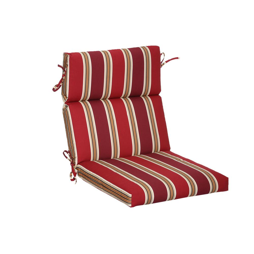 Chili Stripe Outdoor Dining Chair Cushion