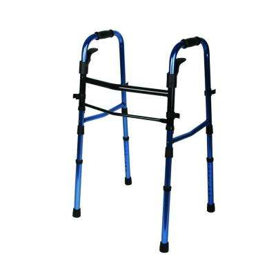 Paddle Folding Walker in Blue