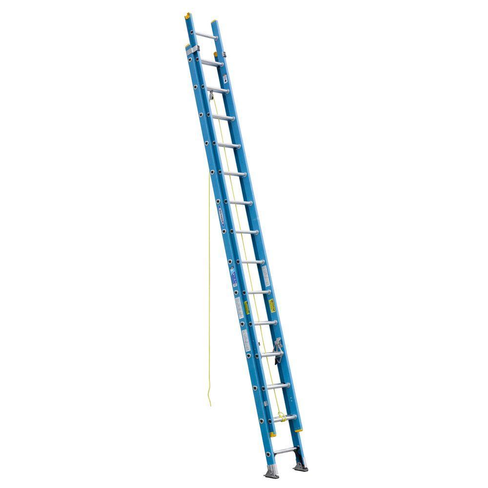 Werner 28 Ft Fiberglass D Rung Extension Ladder With 250