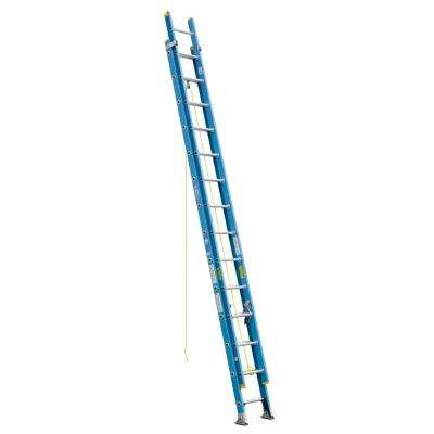 28 ft. Fiberglass D-Rung Extension Ladder with 250 lb. Load Capacity Type I Duty Rating