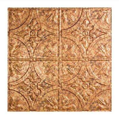 Traditional 2 - 2 ft. x 2 ft. Lay-in Ceiling Tile in Cracked Copper