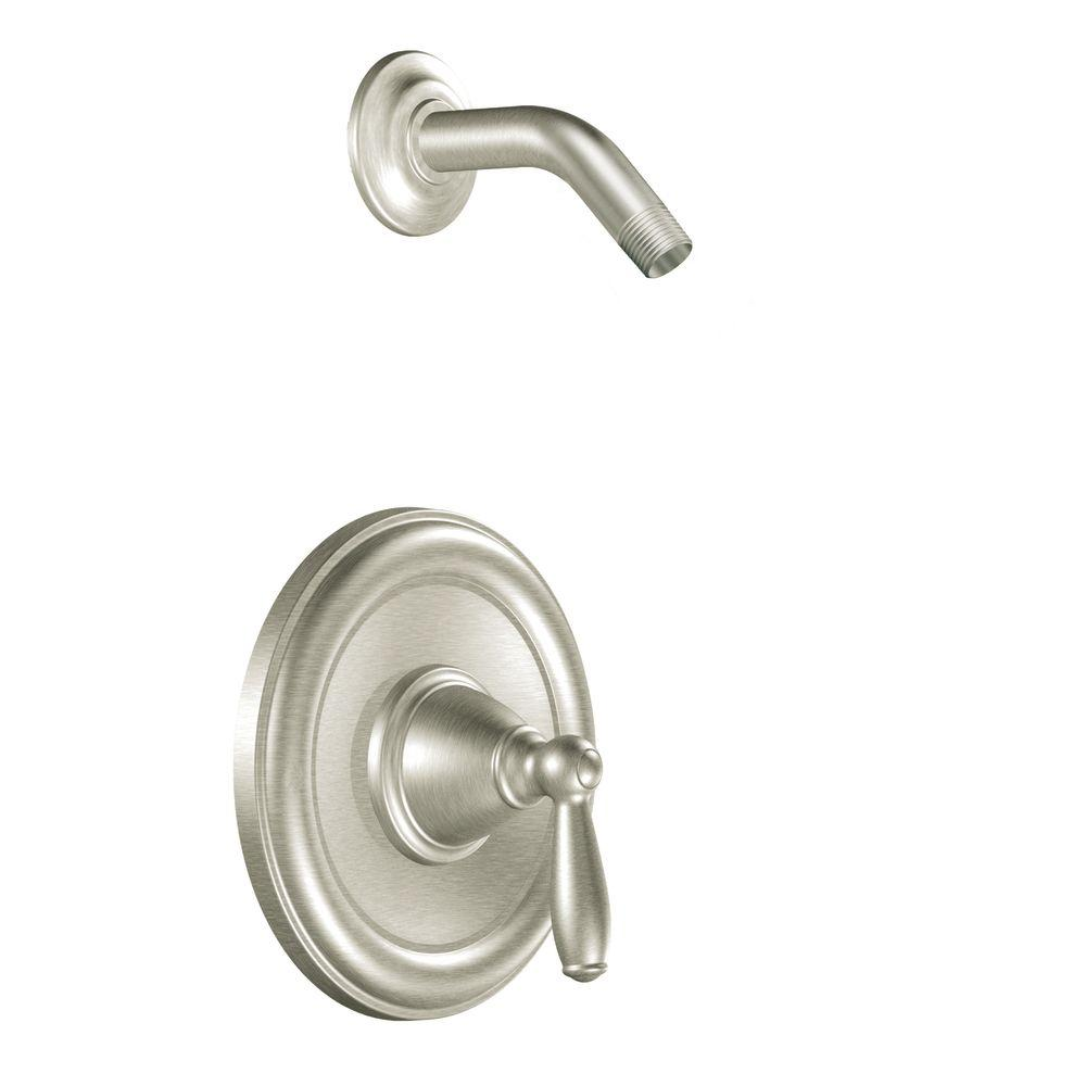 MOEN Brantford 1-Handle Posi-Temp Shower Only in Brushed Nickel (Valve Not Included)