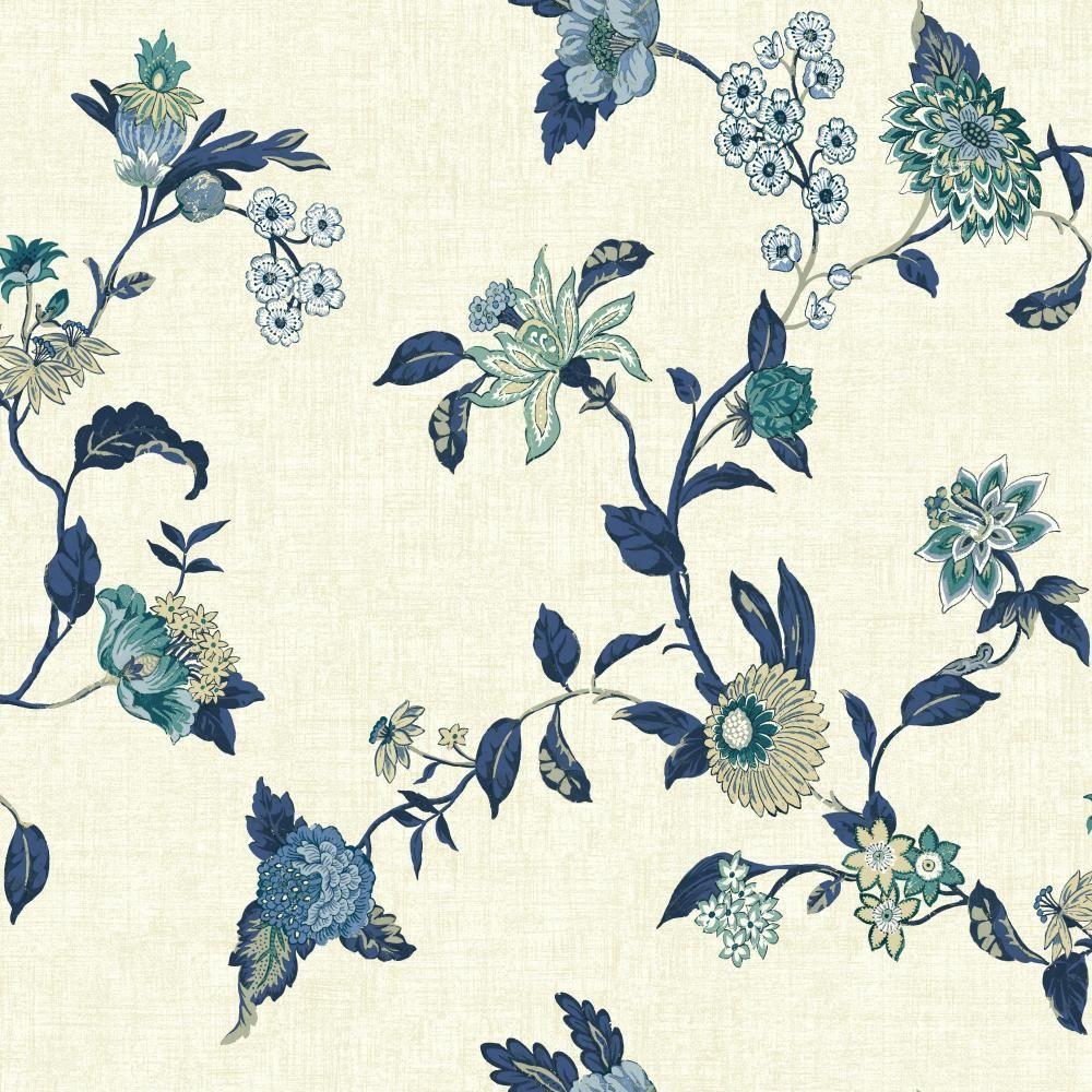 York Wallcoverings Global Chic Graceful Garden Trail Wallpaper GC8710