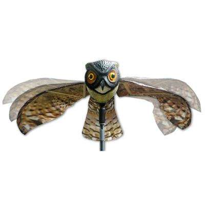 Prowler Owl with Flapping Wings Owl Decoy Scarecrow Bird Repellent Scare Pigeons Birds