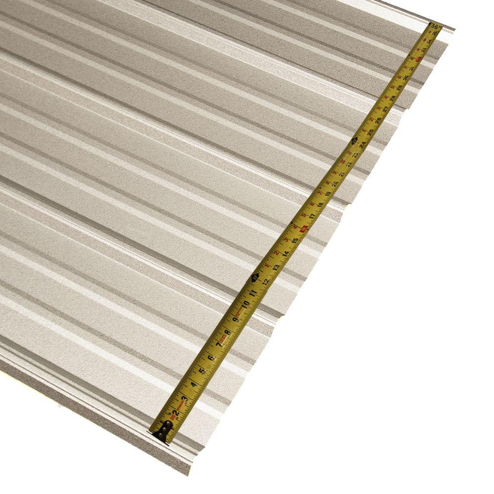 Metal Sales 10 Ft Classic Rib Steel Roof Panel In Galvalume 2313341 The Home Depot