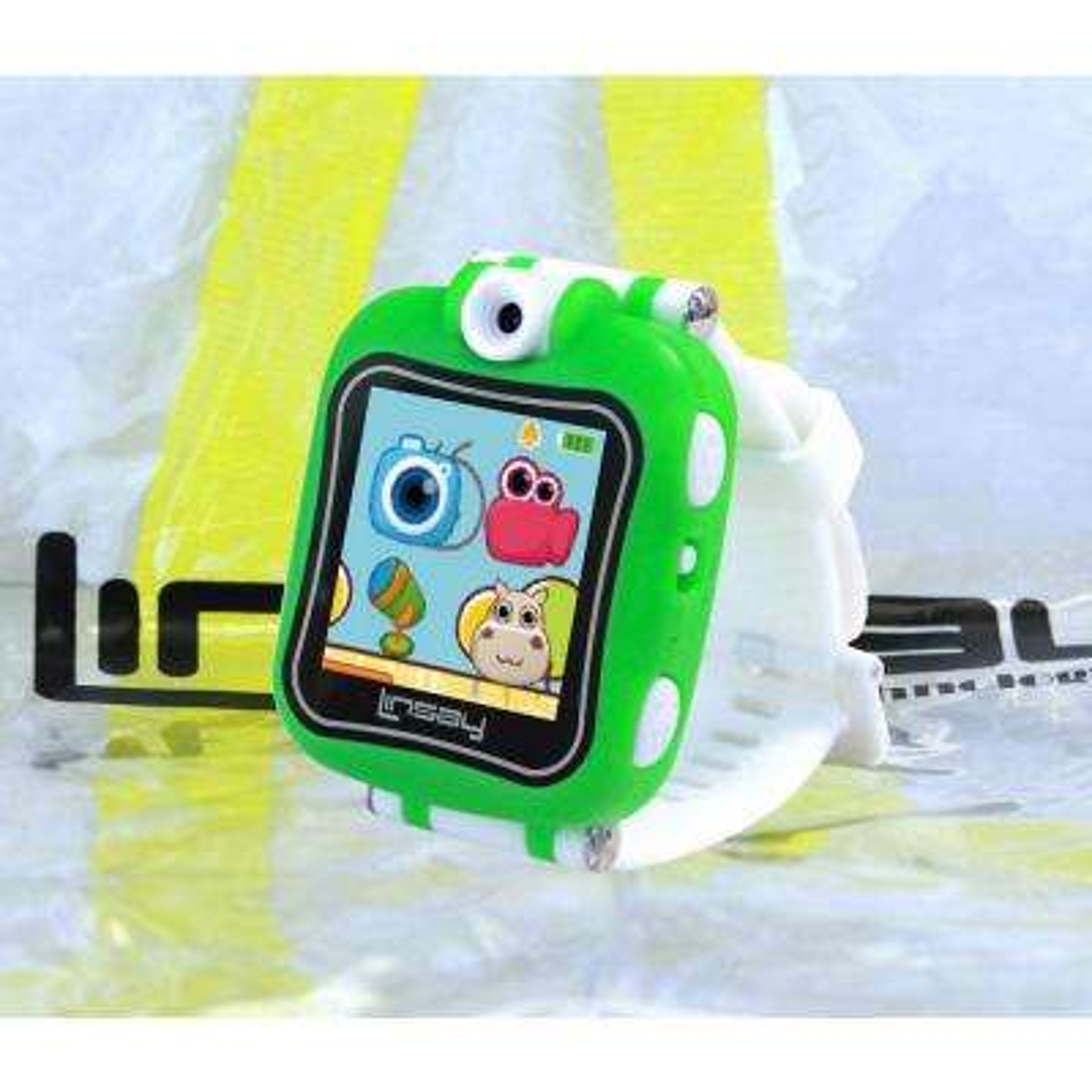 1.5 in. Smart Watch Kids Cam Selfie with Bag Pack, Green