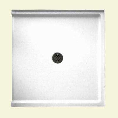 Solid Surface Single Threshold Barrier Free Shower Pan In