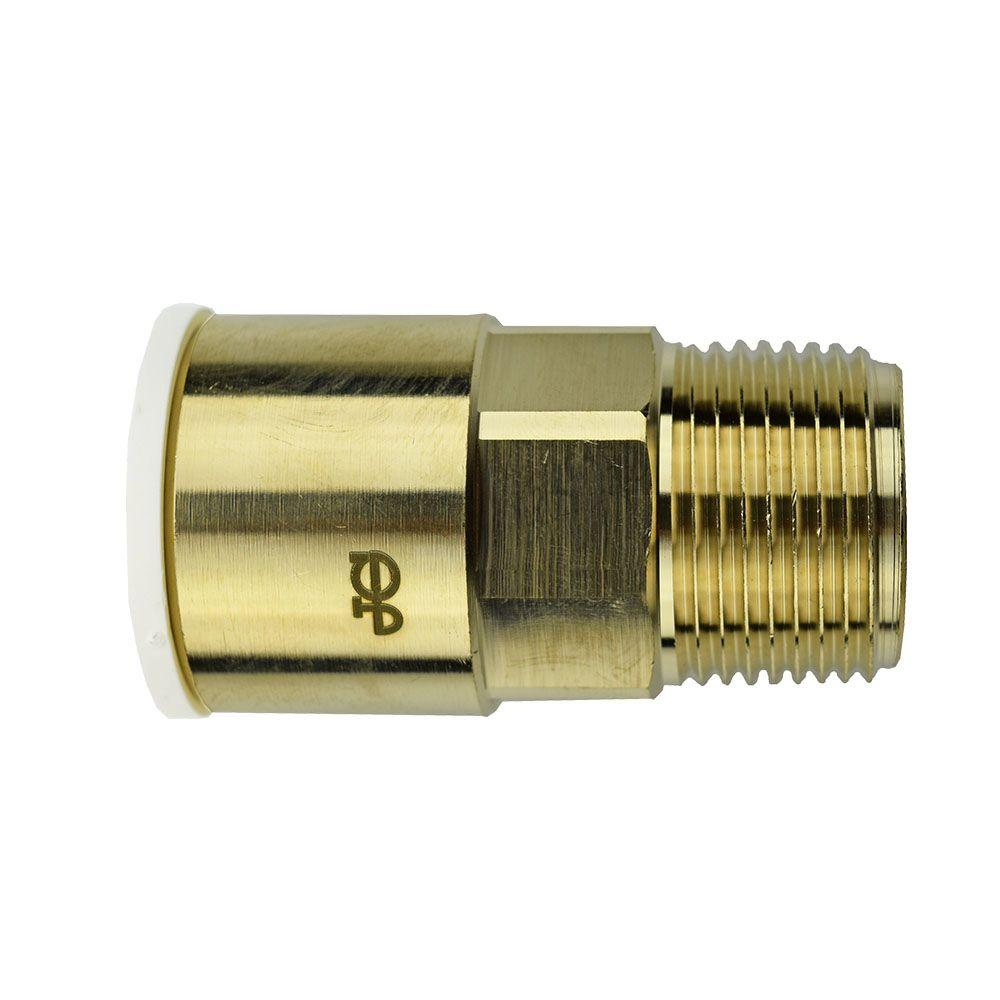 3/4 in. x 3/4 in. Brass Push-to-Connect Male Connector Contractor Pack