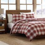 Eddie Bauer Edgewood 3-Piece Red King Duvet Cover Set