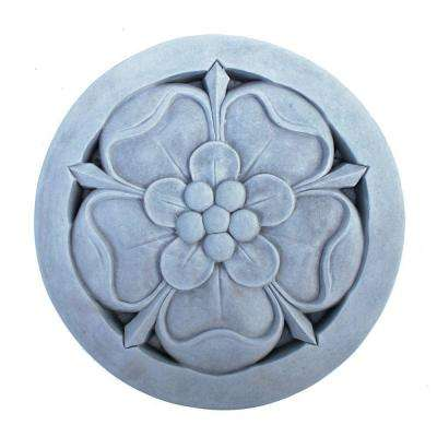 Cast Stone Tudor Rose Stepstone Antique Gray