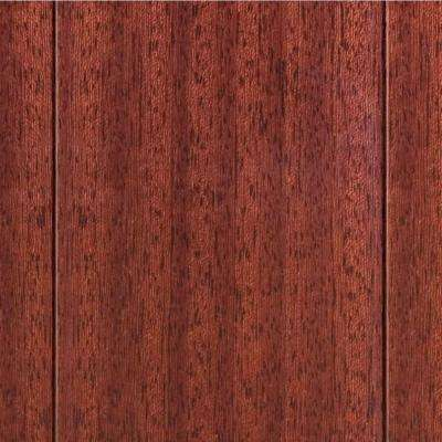 High Gloss Santos Mahogany 3/8 in. T x 4-3/4 in. W x Varying Length Click Lock Exotic Hardwood Flooring(24.94 sq.ft./cs)