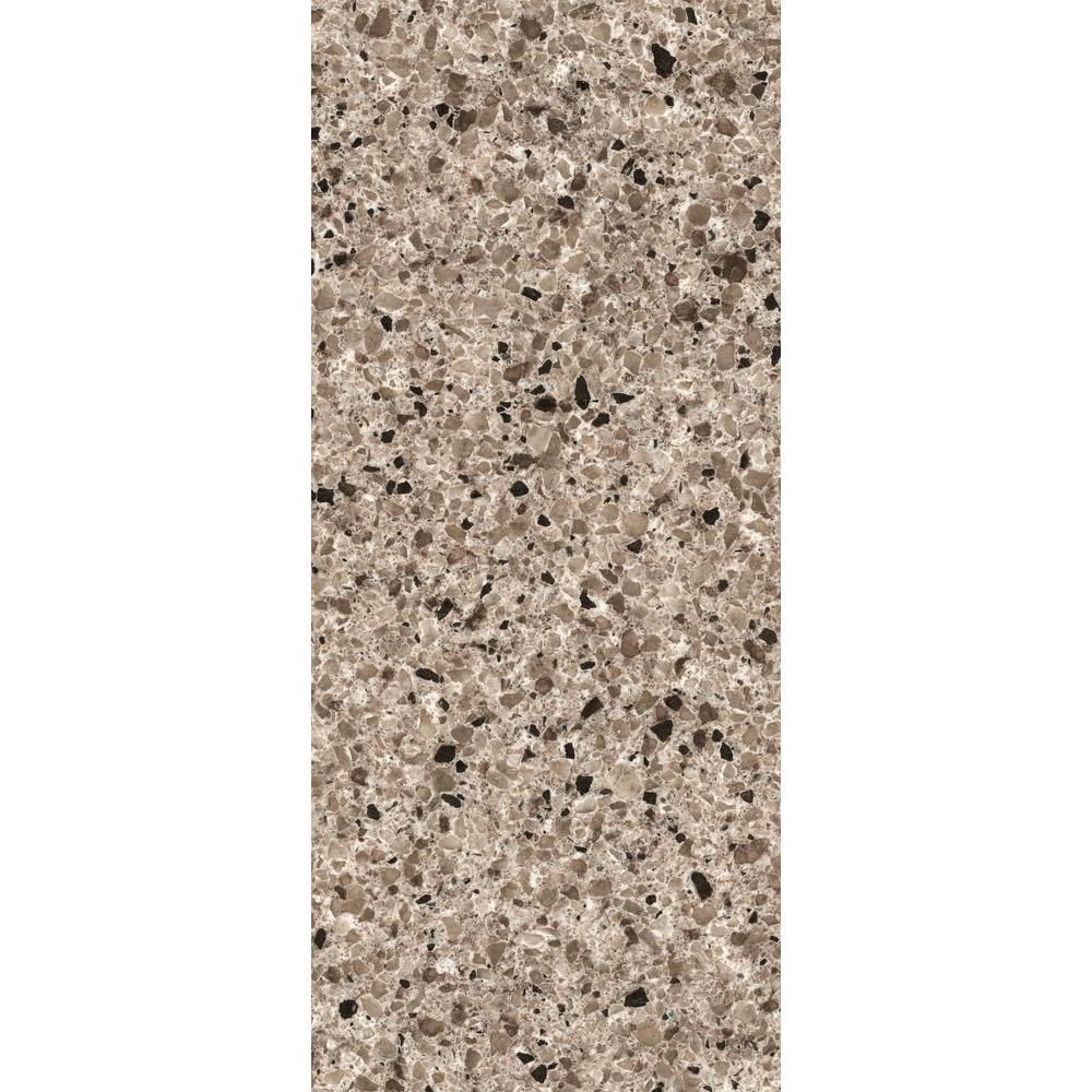LG Hausys Viatera 3 in. x 3 in. Quartz Countertop Sample in Antico Pearl