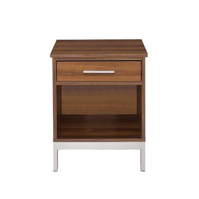 Sterret Silver and Walnut Nightstand