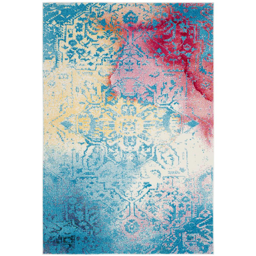 Safavieh Watercolor Green/Fuchsia 4 Ft. X 6 Ft. Area Rug
