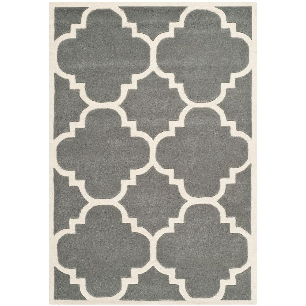 Safavieh Chatham Dark Grey/Ivory 4 ft. x 6 ft. Area Rug