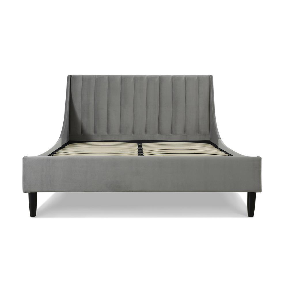 Aspen Upholstered Opal Grey Queen Bed
