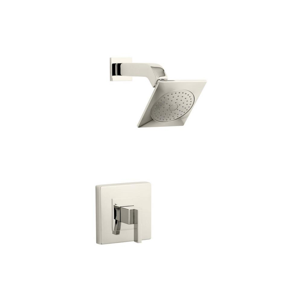 Loure 1-Spray 6.25 in. 2.5 GPM Fixed Shower Head with Lever
