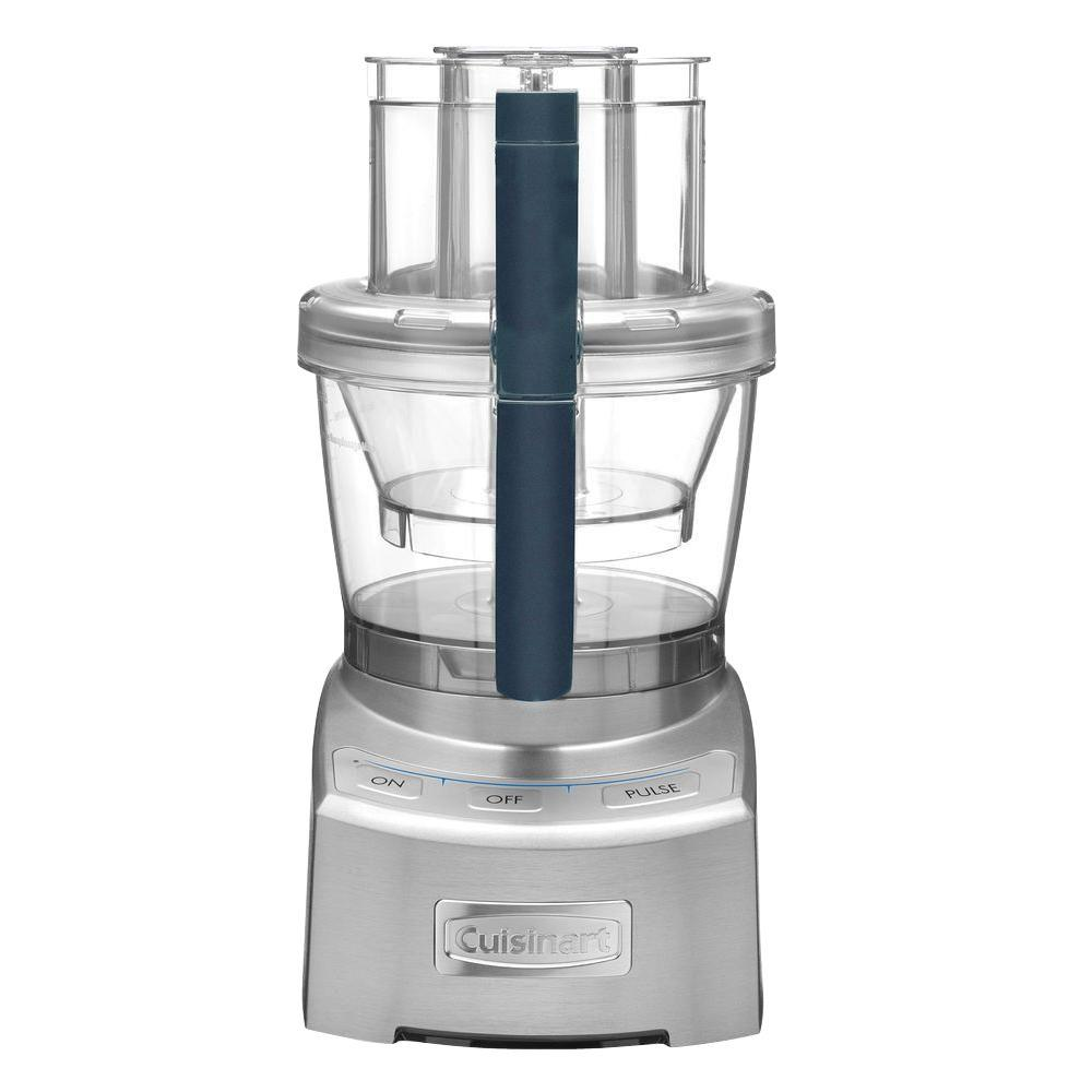 Elite 2.0 Food Processor, Die Cast Combining the Cuisinart tradition of culinary excellence with groundbreaking innovation, the Cuisinart Elite Collection 12-Cup Food Processor sets the bar for the next generation of kitchen appliances. With a 4-cup work bowl nested in the big bowl, plus the adjustable 6-position slicing disc and reversible shredding disc, it provides home chefs with multiple food processors in one. The exclusive SealTight Advantage system is designed to deliver maximum bowl capacity and clean processing and pouring. It is truly the finest food prep appliance available for today's modern kitchen. Color: Die cast.