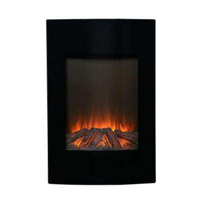 23 in. W 1500-Watt Wall-Mount Electric Fireplace Insert in Black with Remote Control