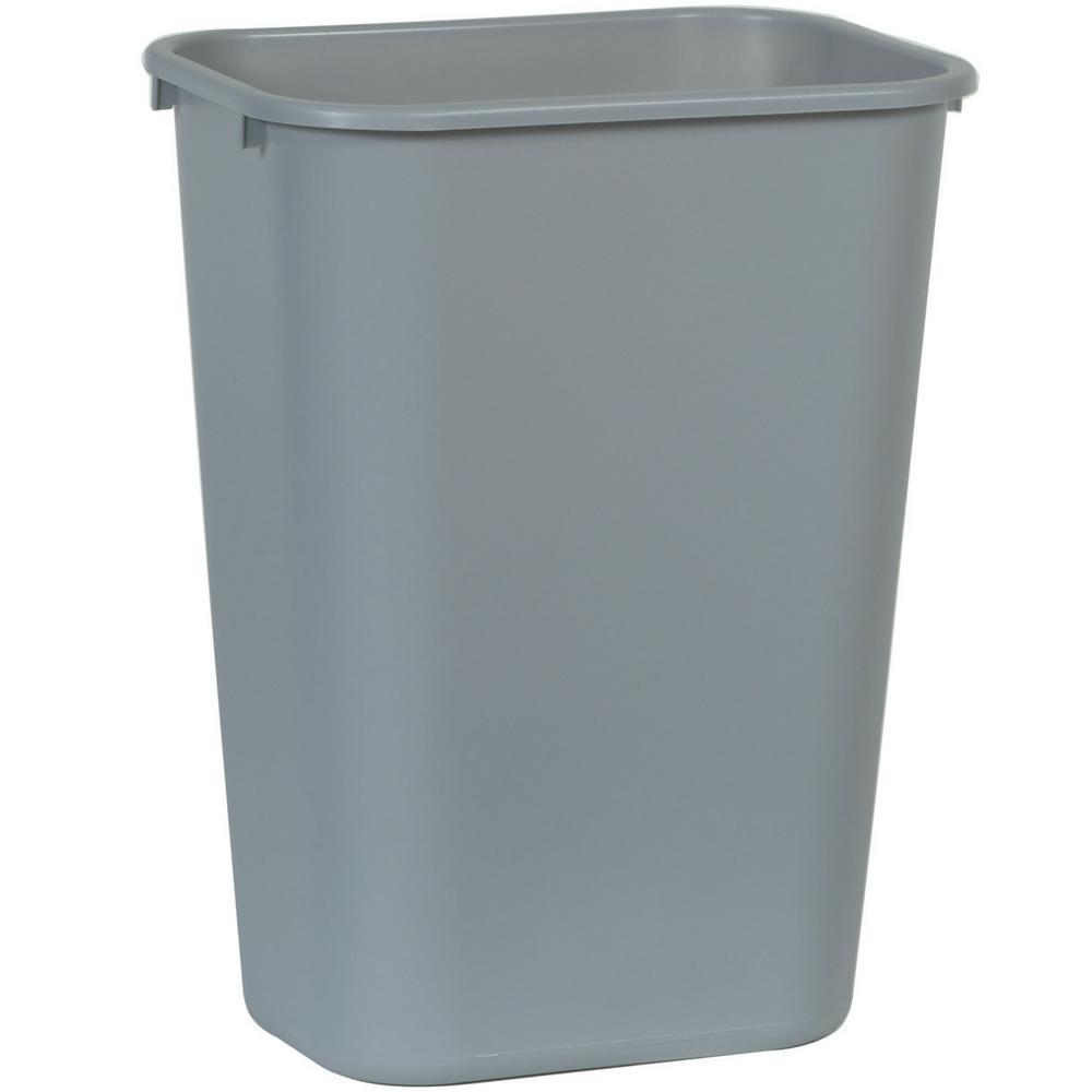 10.25 Gal. Gray Rectangular Trash Can