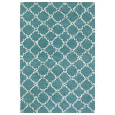 Cozy Toes Turquoise 8 ft. x 10 ft. Area Rug