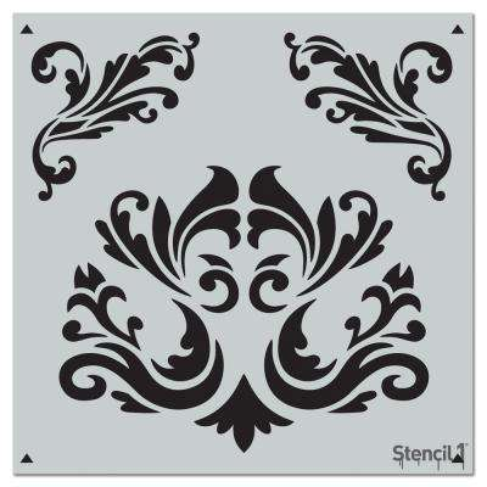 Flourishes Repeat Pattern Stencil