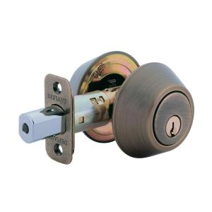double cylinder antique brass deadbolt - Deadbolts
