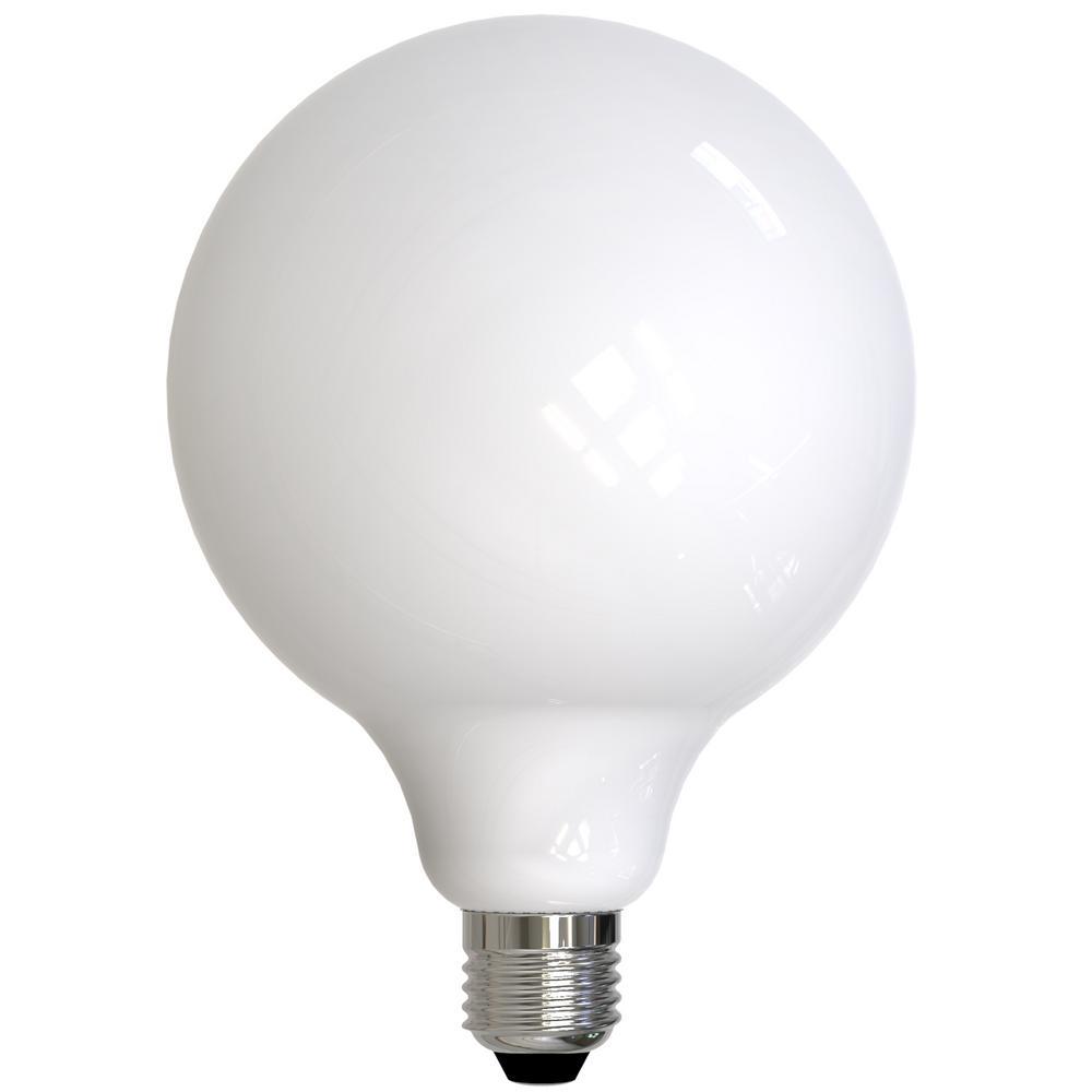 60-Watt Equivalent G40 Milky Dimmable Decorative Filament LED Light Bulb Warm White (2-Pack)