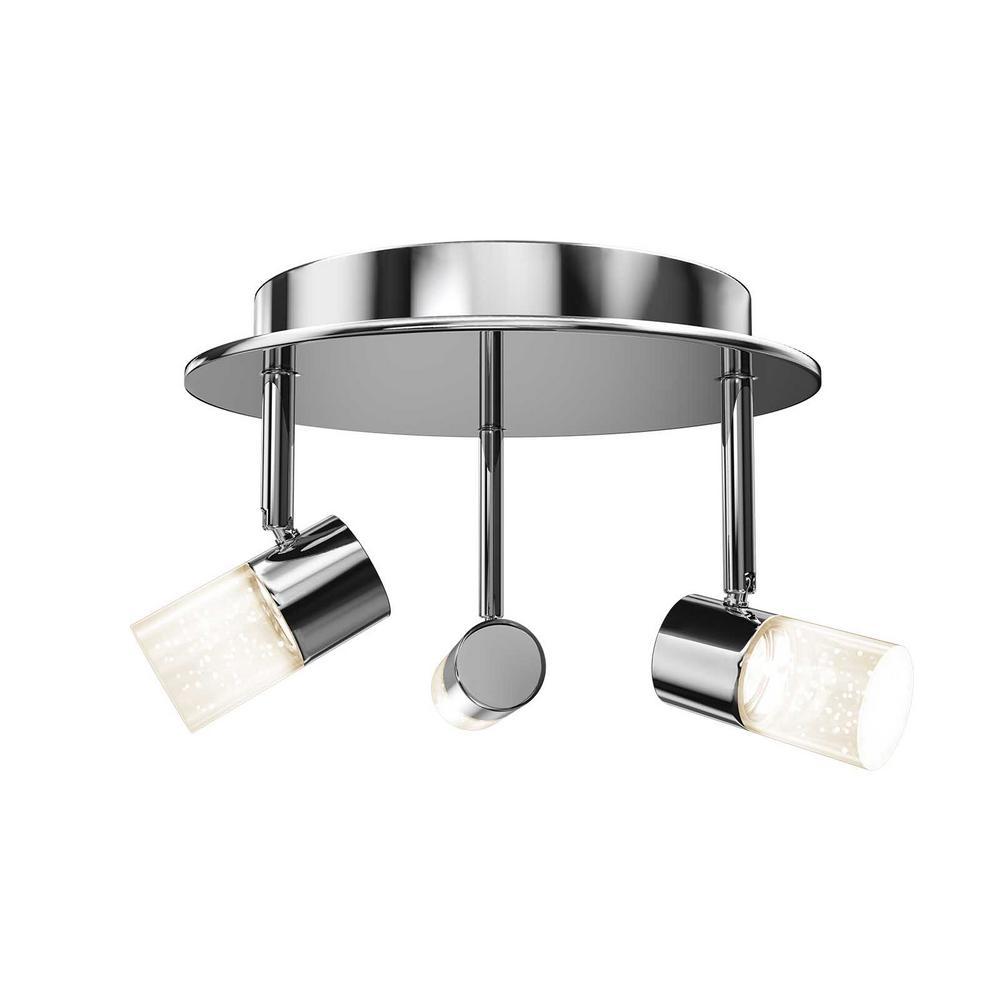 Essence Flare 18-Watt Chrome Integrated LED Flush Mount