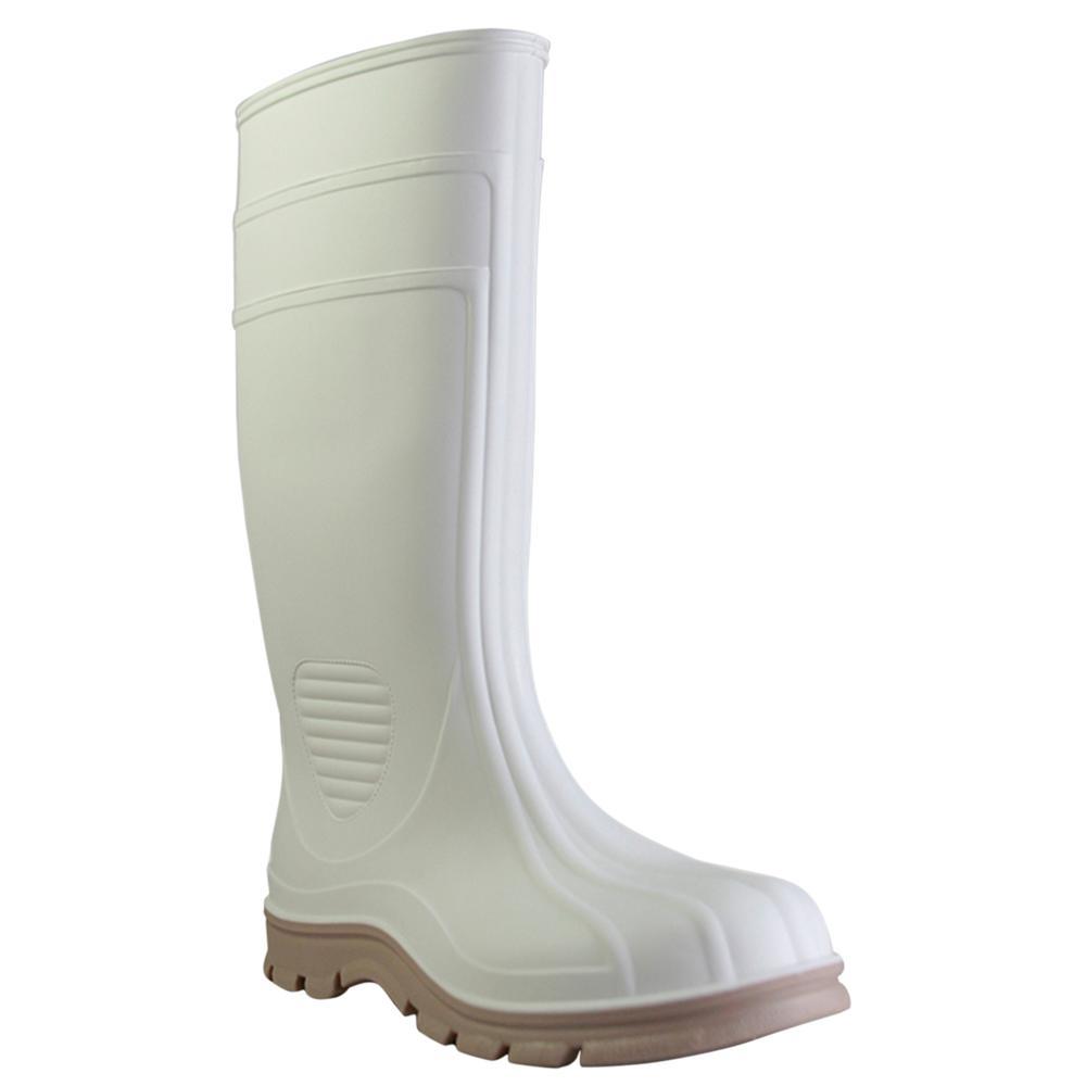 Men's Size 11 White Economy Jumbo Shrimp Steel Toe PVC Boot