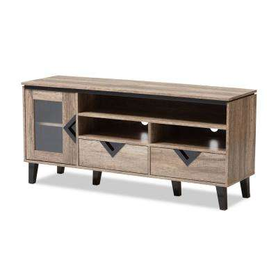 Cardiff Light Brown Wood TV Stand