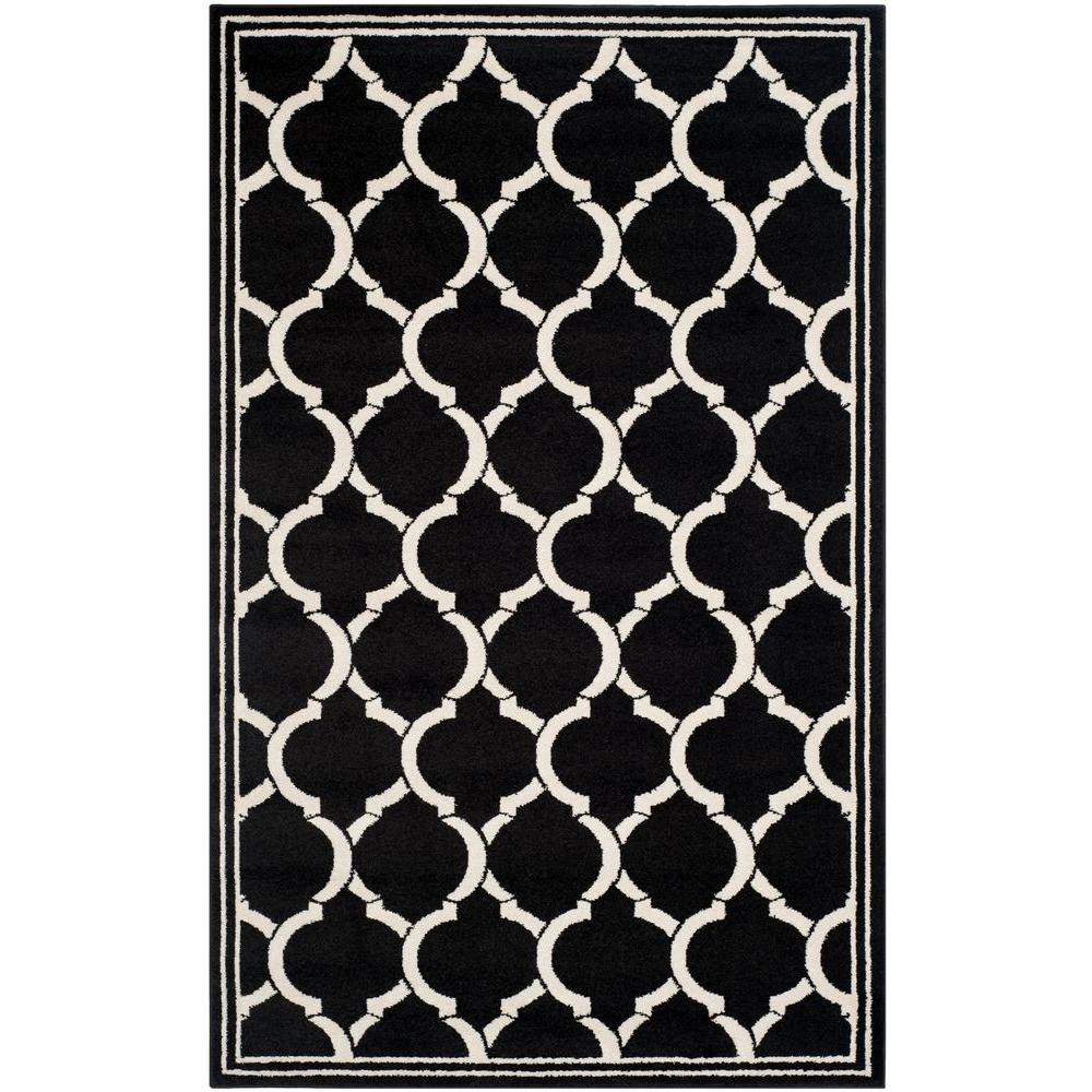 Amherst Anthracite/Ivory 5 ft. x 8 ft. Indoor/Outdoor Area Rug