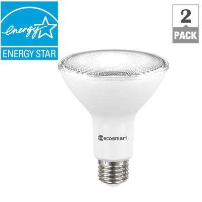 75W Equivalent Bright White PAR30 Dimmable LED Flood Light Bulb (2-Pack)