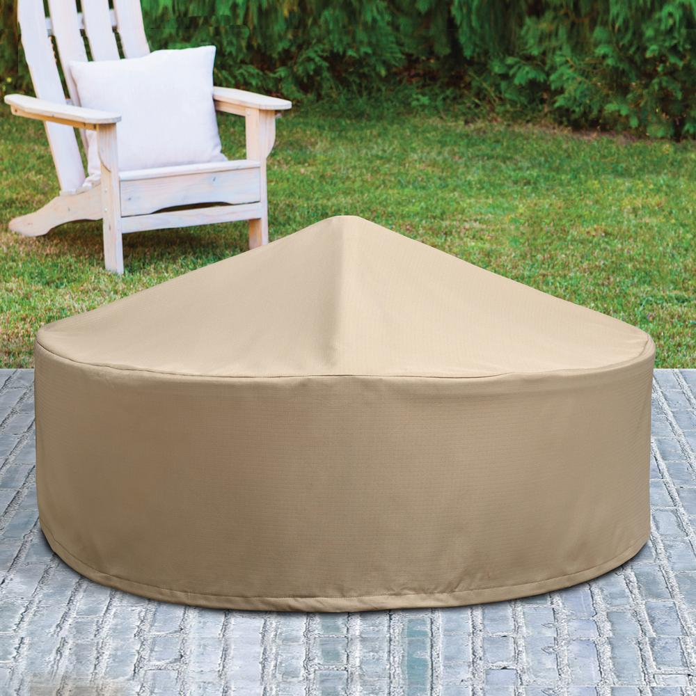 Patio Armor Ripstop Round Fire Pit Cover Sf46618 The