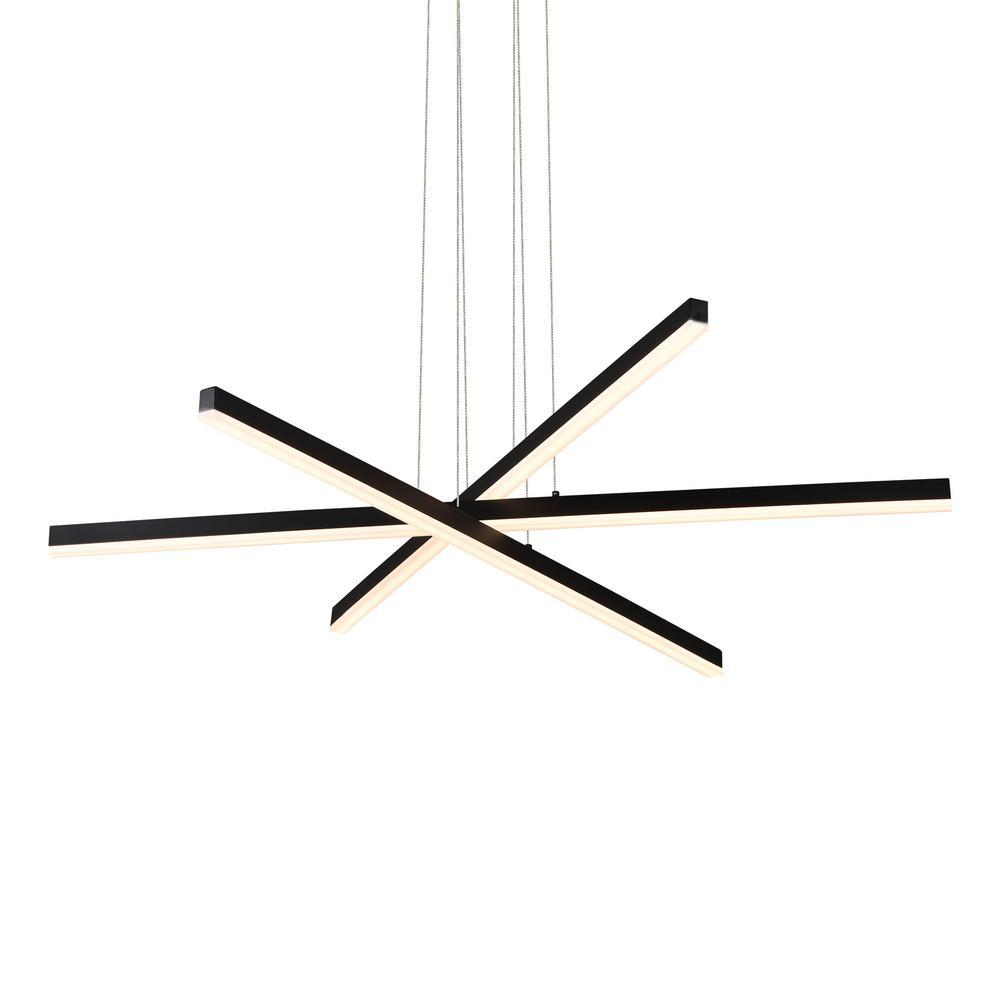 Sirius 119-Watt Black Integrated LED Pendant
