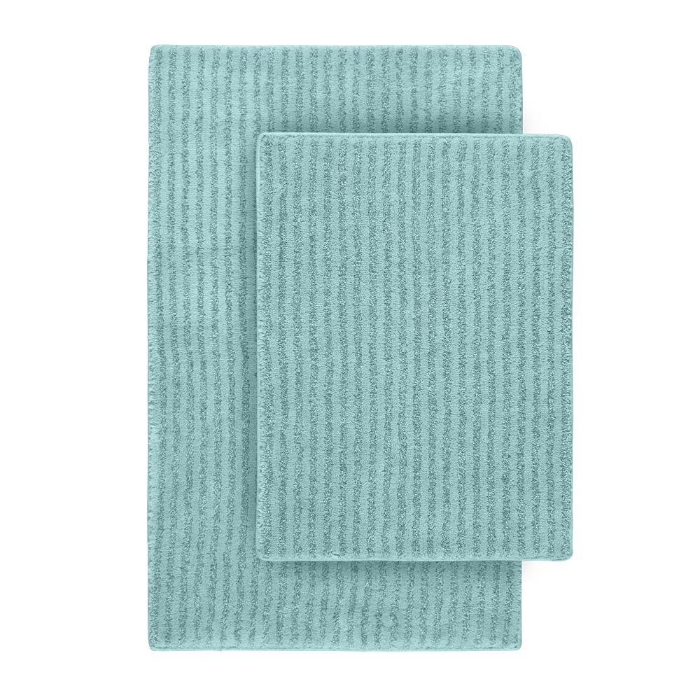 Garland Rug Sheridan Sea Foam 21 In X 34 In Washable Bathroom 2