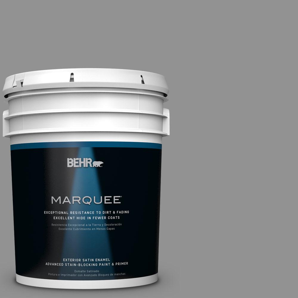 BEHR MARQUEE 5-gal. #N520-4 Cool Ashes Satin Enamel Exterior Paint