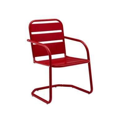 Brighton Red Metal Outdoor Lounge Chair (2-Pack)