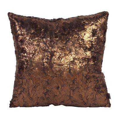 Gold Cougar 20 in. x 20 in. Decorative Pillow