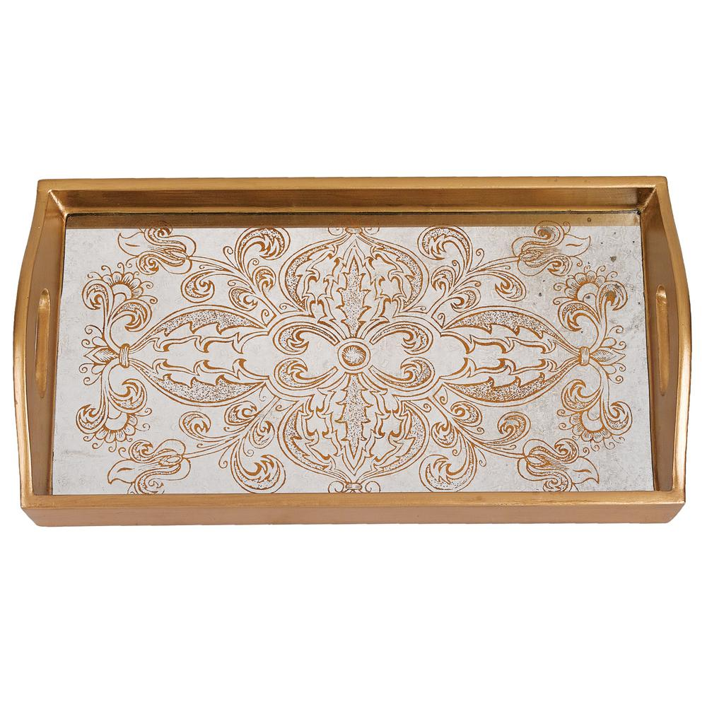 24 in. x 18 in. Manta Gold Rectangle Tray