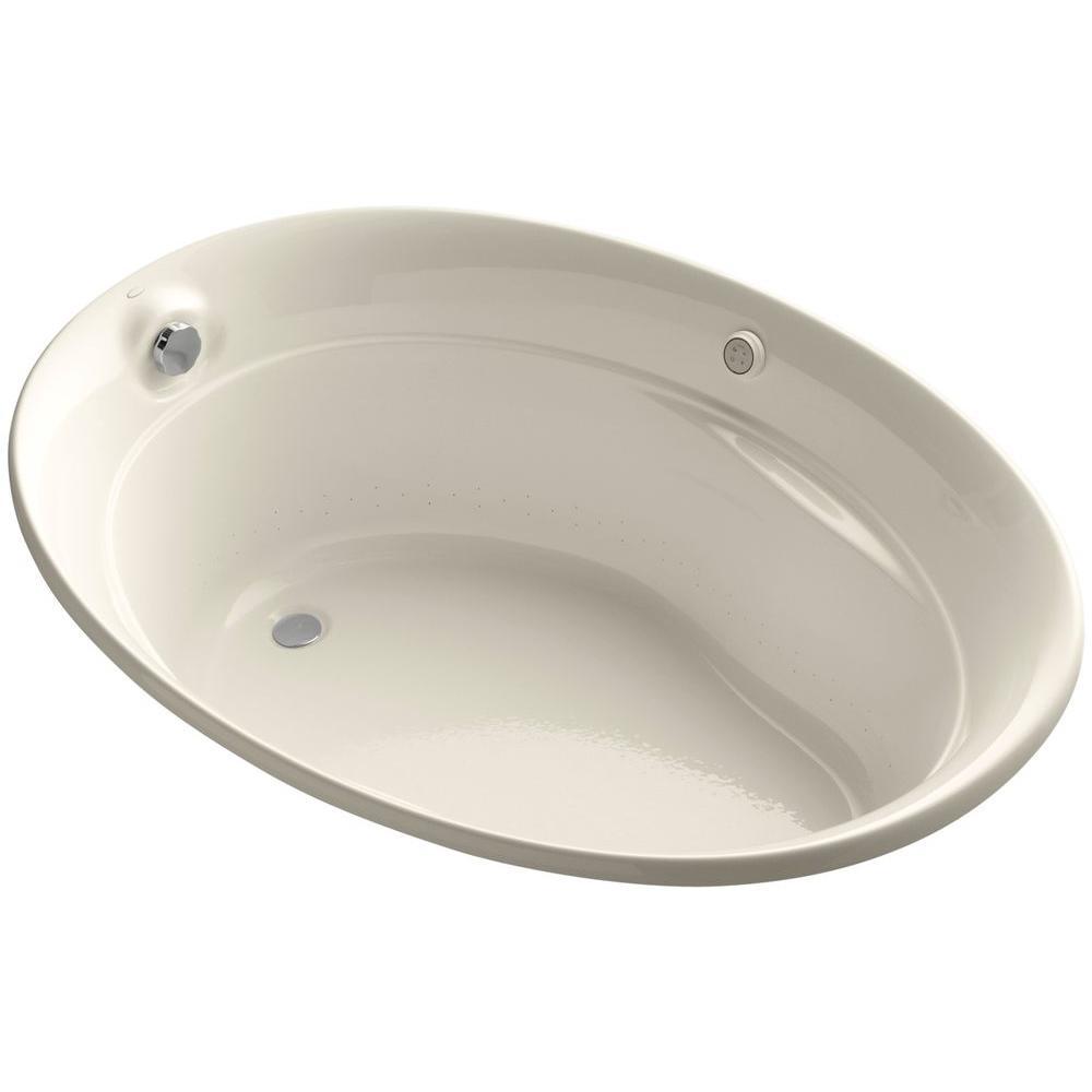 KOHLER Serif 5 Ft. Acrylic Oval Drop-in Whirlpool Bathtub