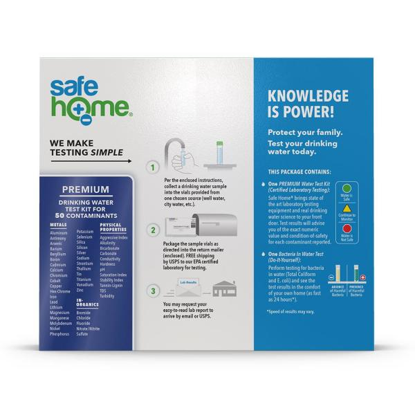 Safe Home Premium Water Test Kit Sh Pwt1 The Home Depot