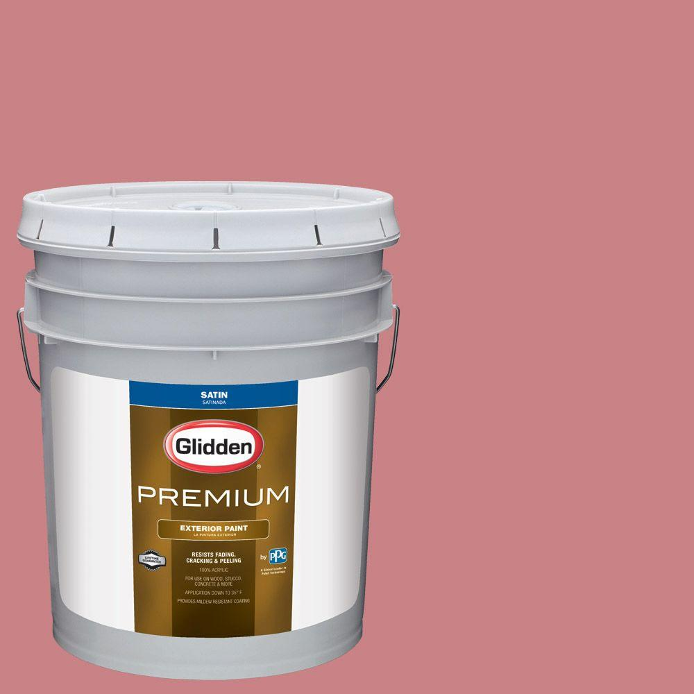 Glidden Premium 5-gal. #HDGR49 Fashion Front Rose Satin Latex ...