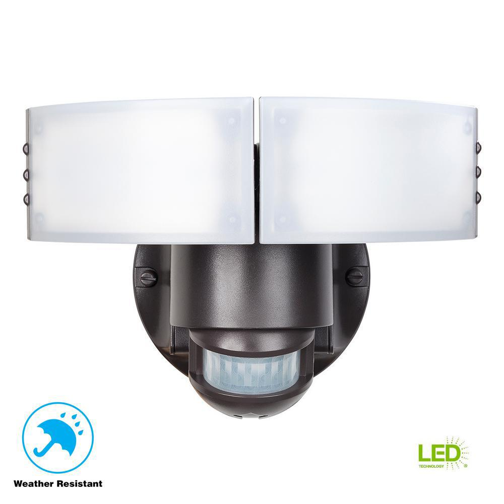 Defiant 180 Degree Bronze Motion Outdoor Integrated Led