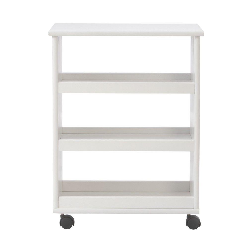 Stanton 20 in. W Multi-Function 3-Shelf Storage Cart in White
