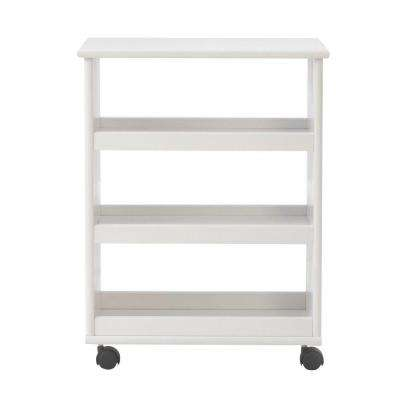Stanton 20 in. W Multi-Function 3-Shelf Storage Cart in White